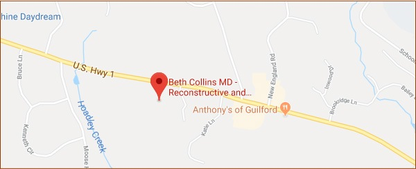 Map of Beth Collins MD office location