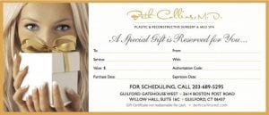 Beth Collins MD Gift Certificate Present Design