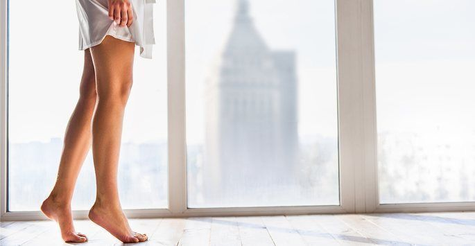 Woman with beautiful legs