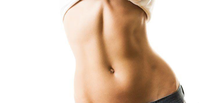 Toned woman's abdomen